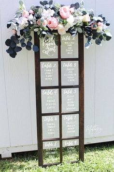 10 Unique (+ mostly easy!) DIY Seating Chart Ideas For Your Wedding Reception » P A P E R + L A C E