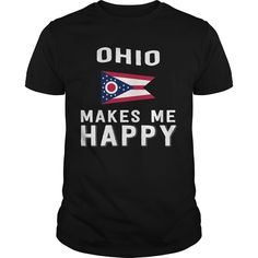 Get yours nice Ohio Makes Me Happy Best Gift Shirts & Hoodies.  #gift, #idea, #photo, #image, #hoodie, #shirt, #christmas