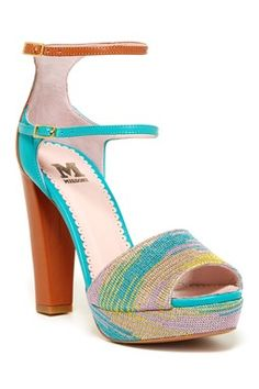 M Missoni Ankle Strap Platform Sandal
