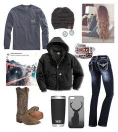 A fashion look from January 2018 featuring Carhartt, zipper jeans and diamond earrings. Browse and shop related looks. Country Style Outfits, Southern Outfits, Country Fashion, Country Wear, Cute Cowgirl Outfits, Western Outfits Women, Cute Casual Outfits, Teen Fashion Outfits, Outfits For Teens