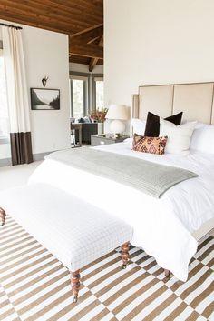 Cozy neutral master bedroom