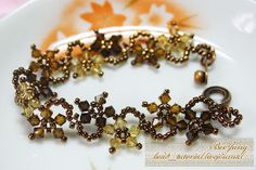 The Floral Autumn Fantasy Bracelet pattern features warm fall colors and an intricate design. If you love seed bead patterns that evoke the beauty of nature, you'll love making this DIY bracelet. Make a bracelet that is perfect for autumn accessorizing with this free pattern.