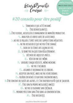 20 CONSEILS POUR ETRE POSITIF