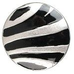 #1238 Snap in Style Metal Accent Zebra, 21.5mm - 1 piece