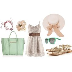 Mint and Pink - Perfect outfit for the horse races :)
