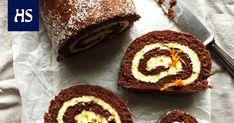 Kääretorttu valmistuu ilman suurta vaivannäköä. Tämän unelmatortun herkullisuuden salaisuus on pehmeä tuorejuustotäyte. Cheesecake, Muffin, Candy, Baking, Breakfast, Sweet, Desserts, Food, Ideas