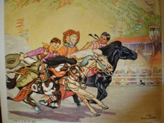Vintage 1930's Illustrated Book - The Book Of Cowboys - Holling C. Holling by 20thCenturyCool on Etsy
