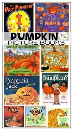 Fall Pumpkin Picture Books to read to your children or students, pumpkin read alouds
