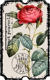 Create with TLC: Another Friday Freebie.vintage flower that can be printed. Floral Vintage, Vintage Diy, Vintage Tags, Vintage Labels, Vintage Ephemera, Vintage Paper, Vintage Flowers, Vintage Prints, Vintage Posters