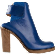 Mm6 Maison Margiela Cut-Out Ankle Boots ($509) ❤ liked on Polyvore