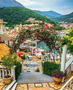 Floral path to the sea Parga town Mythical Greece Beautiful Places To Visit, Wonderful Places, Beautiful Islands, Beautiful World, Places To Travel, Places To Go, Travel Pics, Ocean Pictures, Greece Holiday