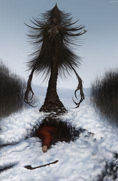 Morbid Fantasy • Yolochka – fantasy creature concept by...