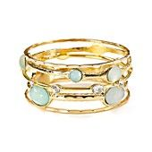 RJ Graziano Multi Stone Bangles, Set of 5