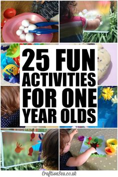 Need some inspiration? Check out these fun activities for one year olds with ideas for crafts, role play, sensory play and more!