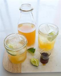 Mint  Lemongrass Lemon-Limeade with Agave
