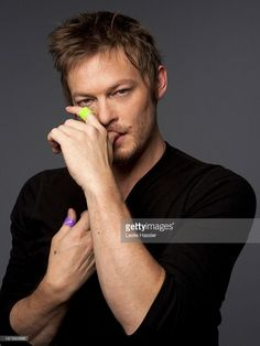 Actor Norman Reedus is photographed for Self Assignment on April 19, 2013 in New York City.