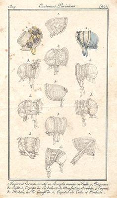 Bonnets 1809 Costume parisien
