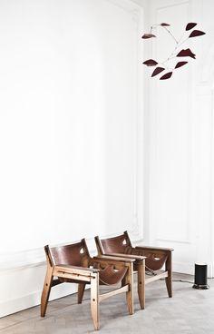 sillon -madera cuero