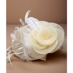 The Perfect Accessory - Home Wedding Fascinators, To Spoil, Wedding Hair Accessories, Wedding Hairstyles, Our Wedding, Feather, Cream, Flowers, Jewellery