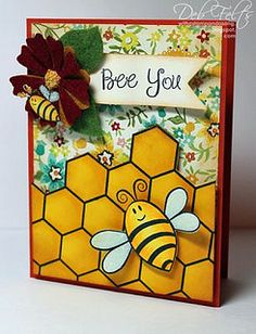Beautiful Bee by The Stamps of Life, via Flickr