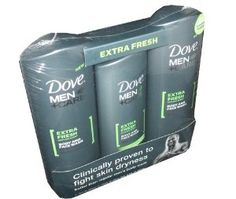 Dove Men Plus Care Clean Comfort Mild Formula Body and Face Wash Total Skin Comfort 3 Pack Value Pack by Dove. $14.11. With Micro Moisture for total skin comfort. Dermatologist recommended. Clinically proven to fight skin dryness. Also available in Extra Fresh and Deep Clean Body and Face Bar and Clean Comfort and Deep Clean Body and Face Wash. New Dove's Men Clean Comfort, Cooling Agent, Body and Face Wash. Two 18 Ounce bottles and One 13.5 Ounce Bottle.. Save 29%!
