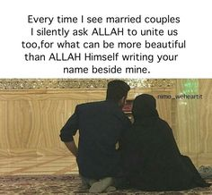 Image shared by nimoweheartit. Find images and videos about beautiful, goals and Relationship on We Heart It - the app to get lost in what you love. Islamic Quotes On Marriage, Muslim Couple Quotes, Islam Marriage, Muslim Love Quotes, Love In Islam, Islamic Love Quotes, Muslim Couples, Muslim Dating, Muslim Family