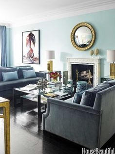 Why You Should Arrange Two Identical Sofas Opposite Of Each Other ➤ http://CARLAASTON.com/how-to-arrange-sofas-to-design-intimacy  #furniture