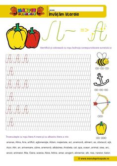 A Archives - Manute Pricepute Romania Map, Homework Sheet, Spring Coloring Pages, Cursive Handwriting, Learning The Alphabet, Creative Kids, Letters And Numbers, Activities, Teaching