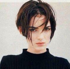 #hair #crop #90s #winona #curtains