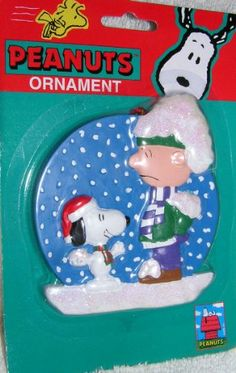 Peanuts 4 Snoopy and Charlie Brown Playing in the Snow Christmas Ornament @ niftywarehouse.com #NiftyWarehouse #Peanuts #CharlieBrown #Comics #Gifts #Products