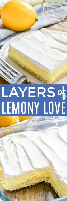 Layers of Lemony Love is a deliciously creamy lemon dessert that's perfect for spring! This easy dessert starts with a simple shortbread crust topped with sweet lemon cheesecake and creamy whipped topping. It's ideal for summer parties, picnics, or baby showers....and always a crowd favorite. If you love lemon, this is a must make recipe!