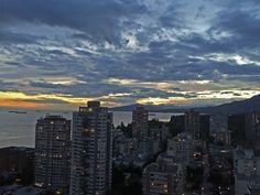 Vancouver English Bay sky at sunset.