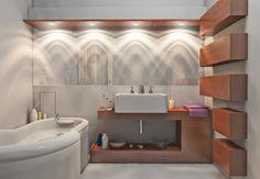iluminaçao de banheiros
