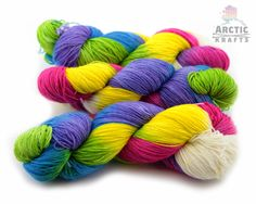 Butterfly Effect hand dyed MCN superwash sock by Arctickrafts