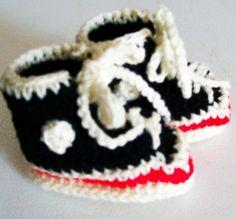 Baby Booties Crochet Baby Hi Top Tennis by CrochetbyBarb70 on Etsy, $14.00