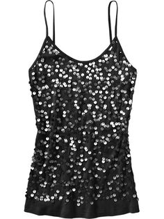 Women's Sequin-Front Camis Product Image