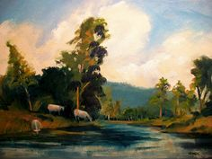 Cows on the Bullpasture-oil