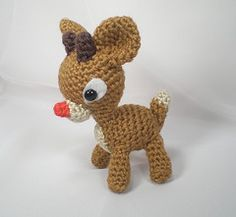 Ravelry: Rudolph the Red Nosed Reindeer pattern by Stephanie Garcia