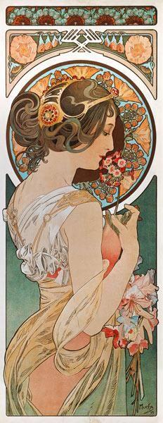 Alphonse Mucha - Fleur clée