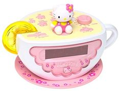 Image result for hello kitty alarm clock tea cup