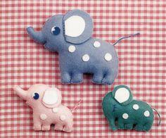 Elephants Free Japanese Felt Sewing Pattern Download