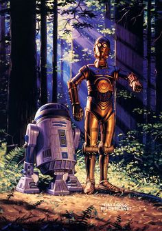 R2 and C-3PO by the Hilderbrandt brothers