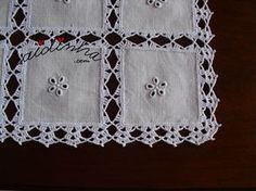 Diy Crafts - This Pin was discovered by Ter Crochet Boarders, Crochet Lace Edging, Crochet Fabric, Crochet Quilt, Crochet Tablecloth, Crochet Doilies, Diy Crafts Knitting, Diy Crafts Crochet, Crochet Projects