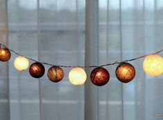 Sea Green Color Handmade 20 String Lights by ThaiDecorateLights