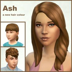 Rising from ashes…This adds a new colour to all hair styles, eye brows and beards.I made it by blending EA's dirty blonde and brown (22/78). Click here for the comparison pic.Download:Base Game(160+2 recolours for hair, brows and beards - 2 files)Outdoor Retreat (GP01)(9 recolours for the new hair styles)Get to Work (EP01) (19 recolours)[[MORE]]  I have used a texture by LumiaLover for the ym WavyLoose Hair (the male hair style which came with the Basement Patch).Swatch colour is #795C3F…