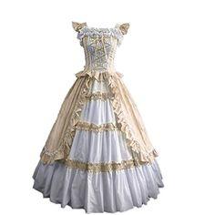 Partiss Women Evening Gothic Lolita Dress (Medium, Champagne) Fancy Dress Store http://www.amazon.com/dp/B00XMZOTNY/ref=cm_sw_r_pi_dp_BJUfwb0PXQGXV