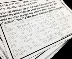 Using bell ringers and exit slips in class for quick writes. #writing #reading #commoncore #creativity