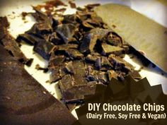 Simple 3 ingredient chocolate chips. I've had a hard time finding good quality chocolate chips that don't use soy lecithin and undesirable sweeteners. These are soy free and are sweetened with raw honey and maple syrup.   Homemade …