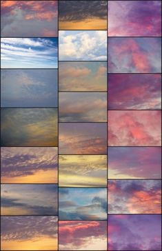 A Walk in the Clouds: Dreamy Sky Overlays - Textures for Photoshop » Jessica Yahn Photography #photography #overlays #textures #clouds #sky #pink #purple #sunset #sunrise