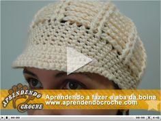 Assista esta vídeo aula e esclareça todas as dúvidas que possam haver sobre abas de boina em crochê. Diy Crafts Knitting, Diy Crafts Crochet, One Skein Crochet, Crochet Cap, Crochet Shoes Pattern, Crochet Patterns, Knitting Patterns, Crochet Newsboy Hat, Slouch Hats
